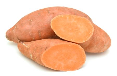 Sweet potatoes on white 写真素材 - 98380488