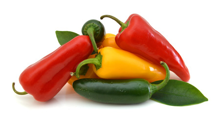 Group Sweet Mini Peppers Imagens