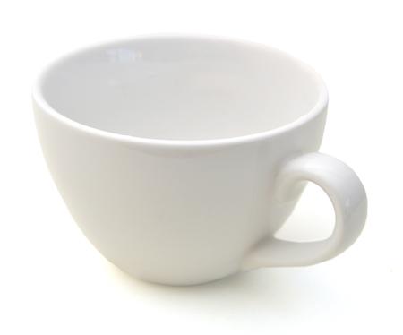 Tasse à café vide sur fond blanc Banque d'images - 98463312