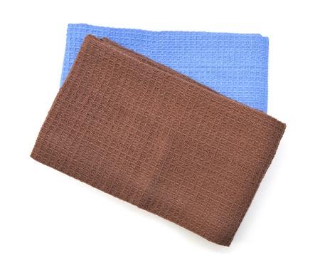 Colorful serviette de coton de coton ou nappe isolé sur blanc / couvercle / nappe Banque d'images - 98463341