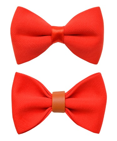 Red bow tie isolated on the white Stockfoto