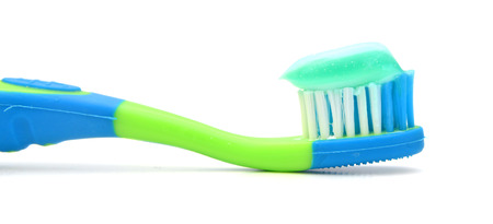 Toothbrush and Toothpaste Stockfoto
