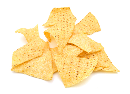 tortilla chips isolated on white