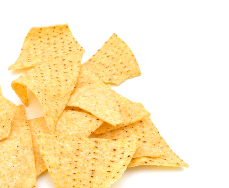 Tortilla chips isolé sur blanc Banque d'images - 98463442