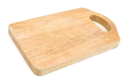 Wooden antiseptic cutting board isolated with clipping path on white background Stock fotó