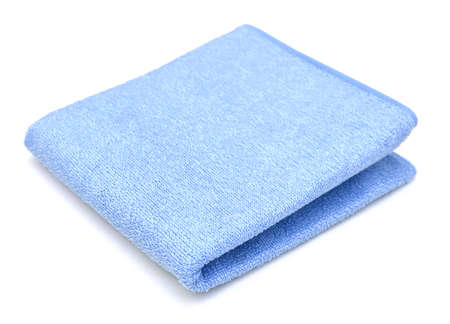 blue microfiber duster isolated on white