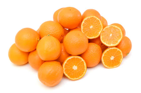 orange mandarines heap