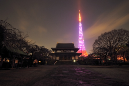 colourful images: Tokyo tower Editorial