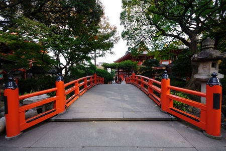 royalty free stock photos: red bridge.