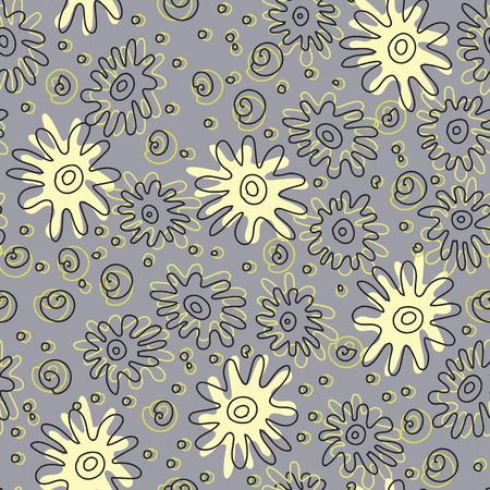 sea stars: Seamless pattern with sea stars and shells