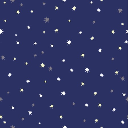 Seamless background with night sky and twinkling stars