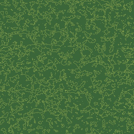 Green seamless pattern with yellow linear stains