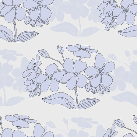 subdued: Seamless vector pattern with light floral texture Illustration