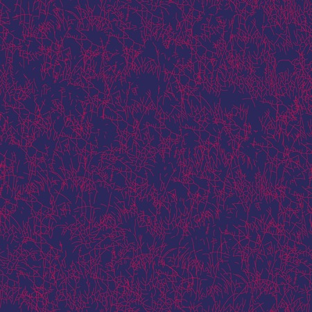 dry flower: Seamless vector pattern with grass or herb on a dark purple background