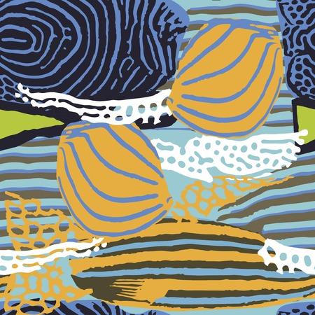 celadon blue: Seamless pattern stylized under the skin of marine fish