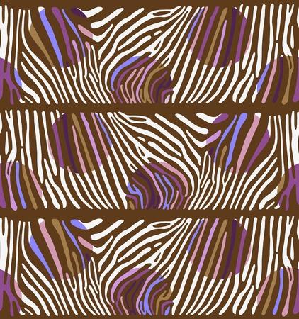 polychromatic: Seamless colorful vector background based on Zebra skin pattern