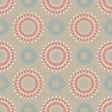 discreto: patrón abstracto floral con adornos circulares en colores pálidos ligeros