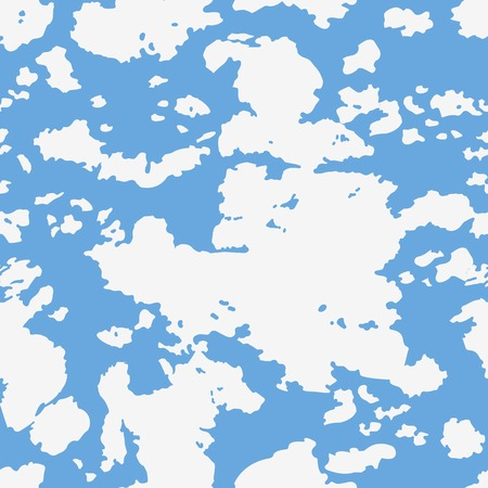 clouded sky: Seamless background with cloudy sky illustration in two colors. Blue and white