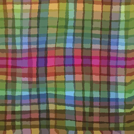 hanky: Multicolor seamless checkered tablecloth. handdrawn pattern