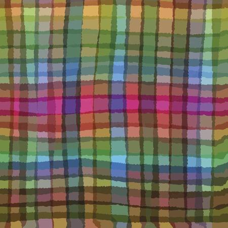 gamma tone: Multicolor seamless checkered tablecloth. handdrawn pattern