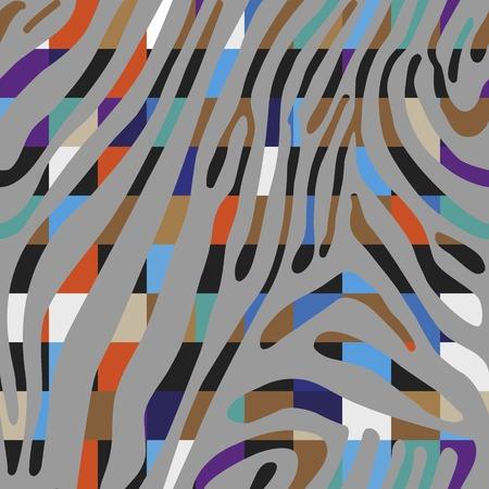 Naadloze kleurrijke abstracte achtergrond op basis van Zebra huid patroon