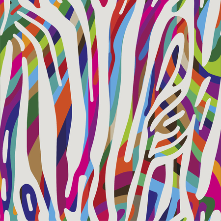zebra skin: Seamless colorful abstract background based on Zebra skin pattern