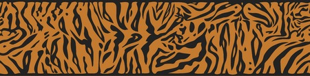 tiger skin: Horisontally seamless background with Tiger skin pattern