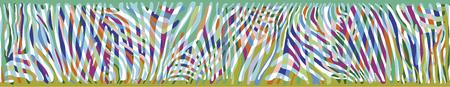 polychromatic: Horizontal seamless colorful background based on Zebra skin pattern Illustration