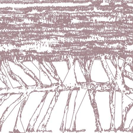 Nahtlose Abstrakte Muster ähnlich Skelett Fisch Oder Fäden ...