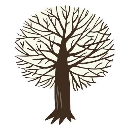 maple tree: illustration with Apple tree or maple tree