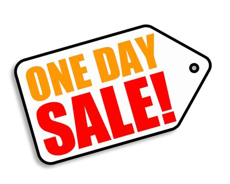 one day sale tag Imagens - 5548269