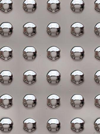 rivets: metal rivets Stock Photo