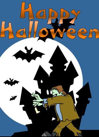 happy halloween illustration illustration