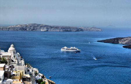 greek island of santorini view