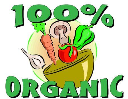 organic food illustration Imagens
