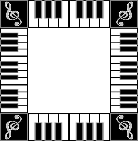 piano border background