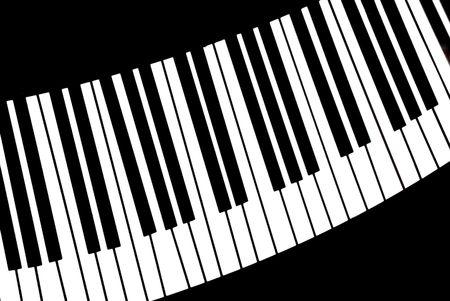 piano toetsen  Stockfoto