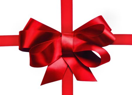 holiday red bow Imagens