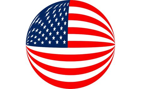 round american flag