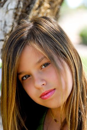 young teen girl Imagens
