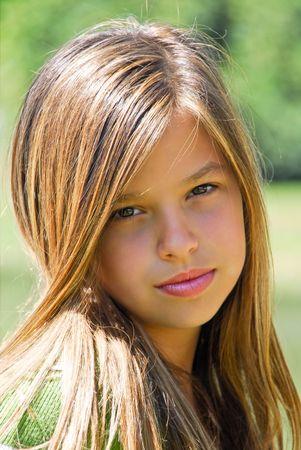 teen girl face: pretty teen girl