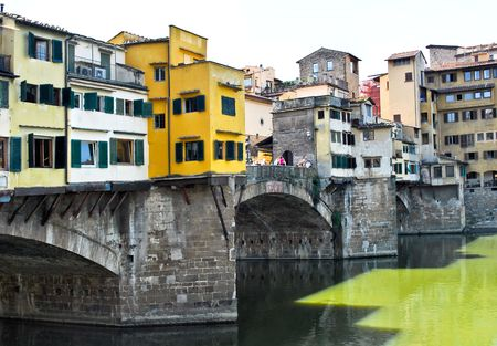 gold market on brigde in florance italy