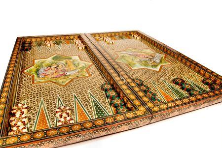 mosaic tile backgammon set