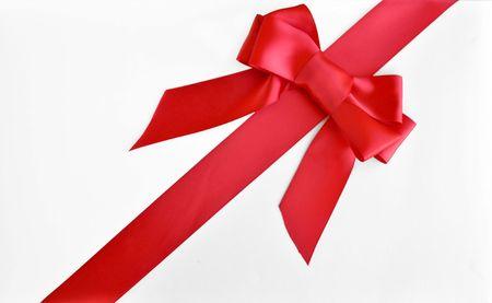 holiday red bow and ribbon gift box