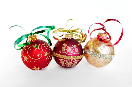 christmas decorating ornaments Imagens