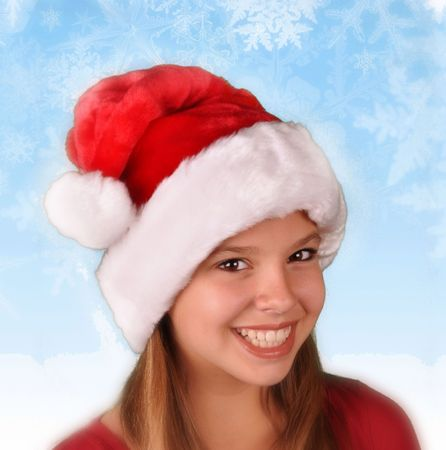 dressed for christmas holidays young teen