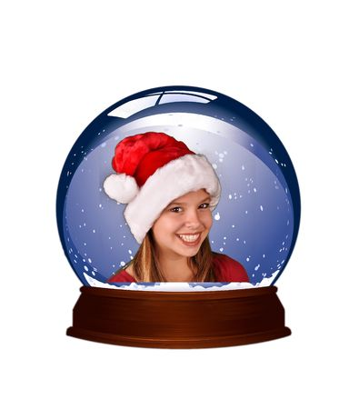 holiday winter snow globe