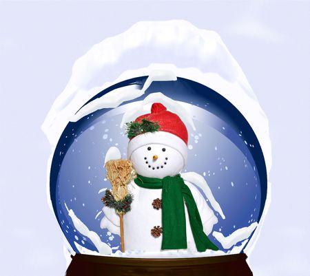 holiday snowman snow globe