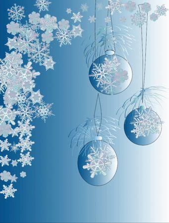 blue christmas card illustration Imagens