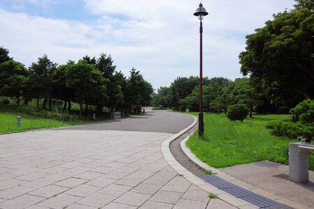 The Promenade in the park 写真素材